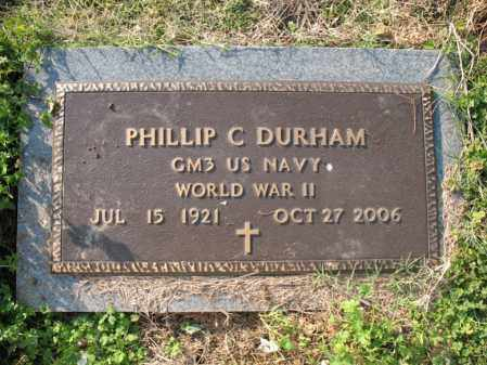 DURHAM (VETERAN WWII), PHILLIP C - Cross County, Arkansas | PHILLIP C DURHAM (VETERAN WWII) - Arkansas Gravestone Photos