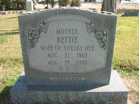 DYE, BETTIE - Cross County, Arkansas   BETTIE DYE - Arkansas Gravestone Photos