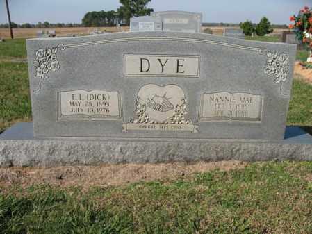 DYE, NANNIE MAE - Cross County, Arkansas   NANNIE MAE DYE - Arkansas Gravestone Photos
