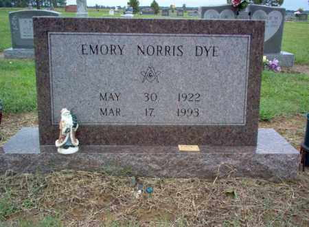 DYE, EMORY NORRIS - Cross County, Arkansas | EMORY NORRIS DYE - Arkansas Gravestone Photos