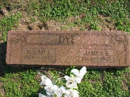 DYE, JAMES E - Cross County, Arkansas | JAMES E DYE - Arkansas Gravestone Photos