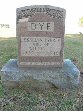 DYE, JESSELYN - Cross County, Arkansas | JESSELYN DYE - Arkansas Gravestone Photos