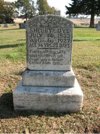 DYE, SHELBY - Cross County, Arkansas   SHELBY DYE - Arkansas Gravestone Photos