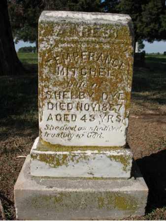 MITCHEL DYE, TEMPERANCE - Cross County, Arkansas | TEMPERANCE MITCHEL DYE - Arkansas Gravestone Photos