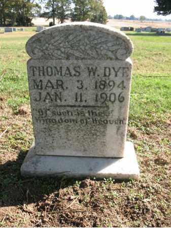 DYE, THOMAS W - Cross County, Arkansas | THOMAS W DYE - Arkansas Gravestone Photos