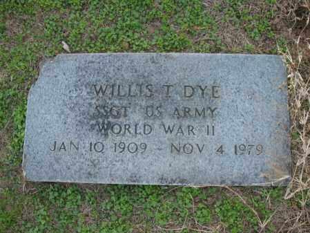 DYE (VETERAN WWII), WILLIS T - Cross County, Arkansas | WILLIS T DYE (VETERAN WWII) - Arkansas Gravestone Photos
