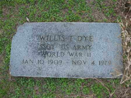 DYE (VETERAN WWII), WILLIS T - Cross County, Arkansas | WILLIS T DYE (VETERAN WWII) - Arkansas Gravestone Photos