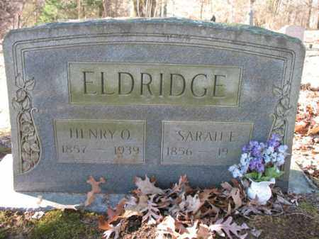 ELDRIDGE, SARAH E - Cross County, Arkansas | SARAH E ELDRIDGE - Arkansas Gravestone Photos