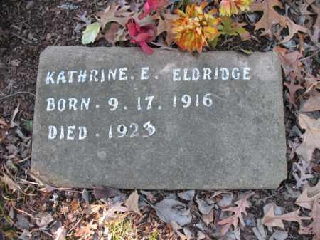 ELDRIDGE, KATHRINE E - Cross County, Arkansas   KATHRINE E ELDRIDGE - Arkansas Gravestone Photos