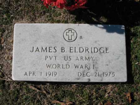 ELDRIDGE (VETERAN WWI), JAMES B - Cross County, Arkansas | JAMES B ELDRIDGE (VETERAN WWI) - Arkansas Gravestone Photos