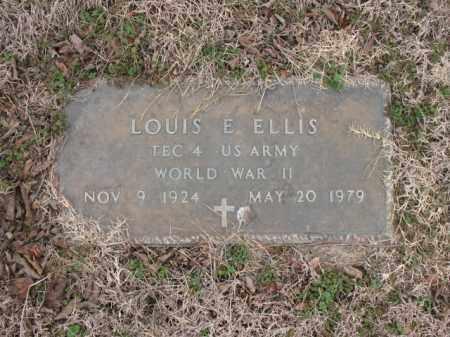 ELLIS (VETERAN WWII), LOUIS E - Cross County, Arkansas | LOUIS E ELLIS (VETERAN WWII) - Arkansas Gravestone Photos