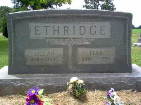 ETHRIDGE, PENN - Cross County, Arkansas   PENN ETHRIDGE - Arkansas Gravestone Photos