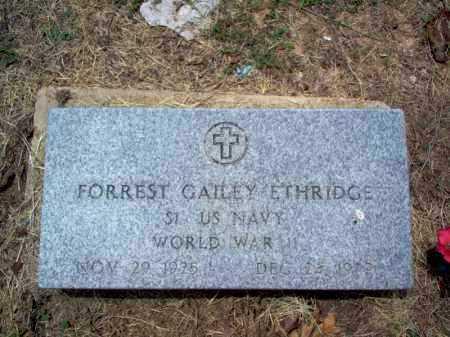 ETHRIDGE (VETERAN WWII), FORREST GAILEY - Cross County, Arkansas   FORREST GAILEY ETHRIDGE (VETERAN WWII) - Arkansas Gravestone Photos