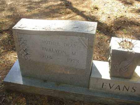 EVANS, EVALYON M - Cross County, Arkansas   EVALYON M EVANS - Arkansas Gravestone Photos