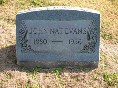 EVANS, JOHN NAT - Cross County, Arkansas | JOHN NAT EVANS - Arkansas Gravestone Photos