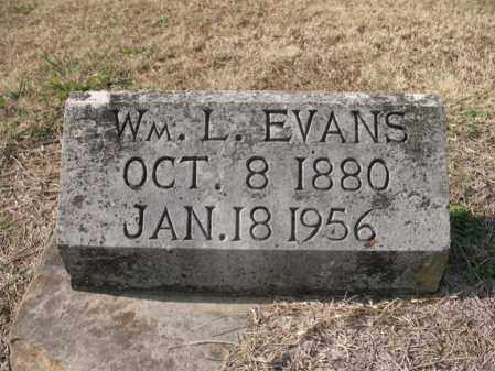 EVANS, WILLIAM L - Cross County, Arkansas | WILLIAM L EVANS - Arkansas Gravestone Photos