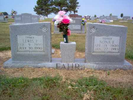 FAHR, LEWIS F - Cross County, Arkansas   LEWIS F FAHR - Arkansas Gravestone Photos