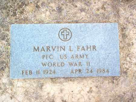 FAHR (VETERAN WWII), MARVIN LEWIS - Cross County, Arkansas | MARVIN LEWIS FAHR (VETERAN WWII) - Arkansas Gravestone Photos
