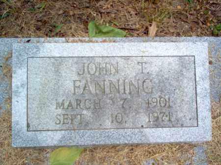 FANNING, JOHN T - Cross County, Arkansas | JOHN T FANNING - Arkansas Gravestone Photos