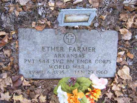 FARMER (VETERAN WWI), ETHER - Cross County, Arkansas | ETHER FARMER (VETERAN WWI) - Arkansas Gravestone Photos