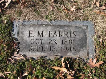 FARRIS, E M - Cross County, Arkansas | E M FARRIS - Arkansas Gravestone Photos