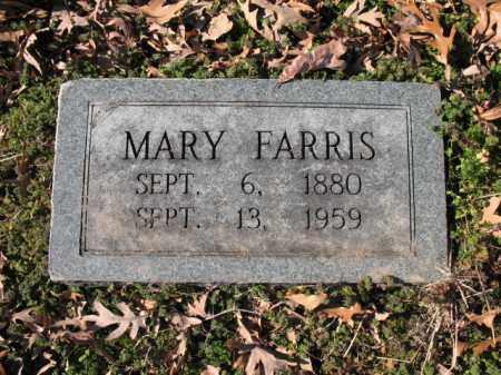 FARRIS, MARY - Cross County, Arkansas   MARY FARRIS - Arkansas Gravestone Photos