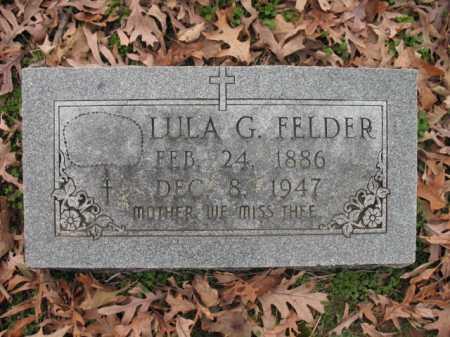 FELDER, LULA G - Cross County, Arkansas   LULA G FELDER - Arkansas Gravestone Photos