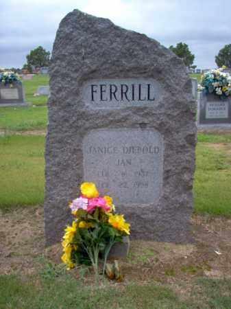 "FERRILL, JANICE ""JAN"" - Cross County, Arkansas | JANICE ""JAN"" FERRILL - Arkansas Gravestone Photos"