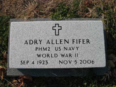 FIFER (VETERAN WWII), ADRY ALLEN - Cross County, Arkansas | ADRY ALLEN FIFER (VETERAN WWII) - Arkansas Gravestone Photos