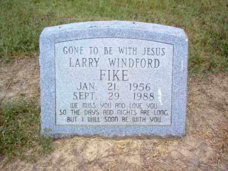 FIKE, LARRY WINDFORD - Cross County, Arkansas | LARRY WINDFORD FIKE - Arkansas Gravestone Photos