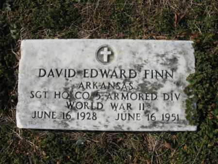 FINN (VETERAN WWII), DAVID EDWARD - Cross County, Arkansas | DAVID EDWARD FINN (VETERAN WWII) - Arkansas Gravestone Photos