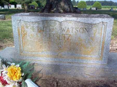 WATSON FOLTZ, ETHEL - Cross County, Arkansas | ETHEL WATSON FOLTZ - Arkansas Gravestone Photos