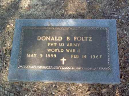 FOLTZ   (VETERAN WWI), DONALD BUFORD - Cross County, Arkansas | DONALD BUFORD FOLTZ   (VETERAN WWI) - Arkansas Gravestone Photos