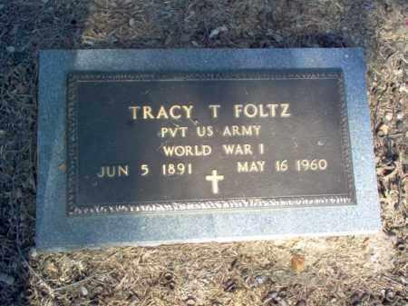 FOLTZ (VETERAN WWI), TRACY TORRENCE - Cross County, Arkansas   TRACY TORRENCE FOLTZ (VETERAN WWI) - Arkansas Gravestone Photos