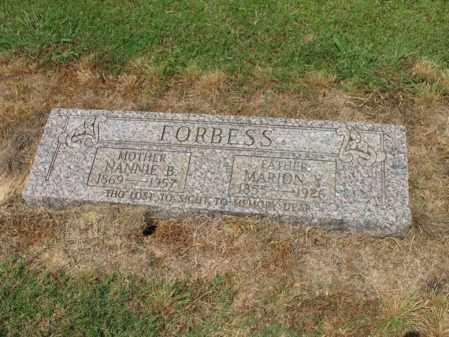 FORBESS, MARION Y - Cross County, Arkansas | MARION Y FORBESS - Arkansas Gravestone Photos