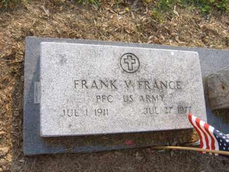 FRANCE (VETERAN), FRANK W - Cross County, Arkansas | FRANK W FRANCE (VETERAN) - Arkansas Gravestone Photos