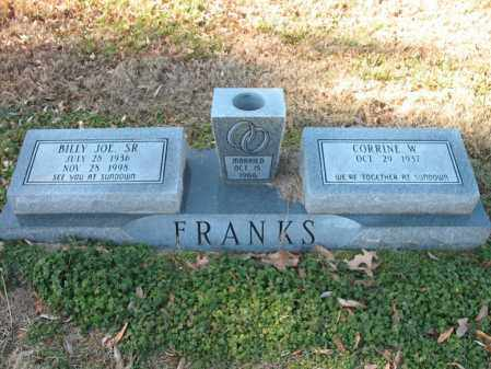 FRANKS, SR., BILLY JOE - Cross County, Arkansas   BILLY JOE FRANKS, SR. - Arkansas Gravestone Photos