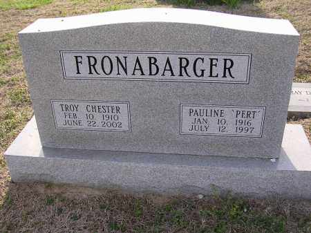 "FRONABARGER, PAULINE ""PERT"" - Cross County, Arkansas 