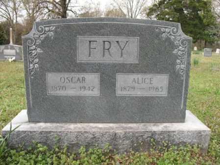 FRY, ALICE - Cross County, Arkansas | ALICE FRY - Arkansas Gravestone Photos
