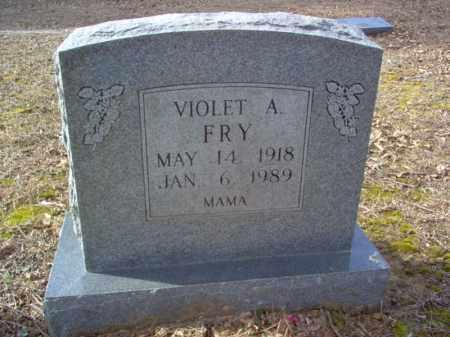 FRY, VIOLET A - Cross County, Arkansas | VIOLET A FRY - Arkansas Gravestone Photos