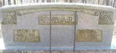 FRYAR, ALBERT E. - Cross County, Arkansas | ALBERT E. FRYAR - Arkansas Gravestone Photos