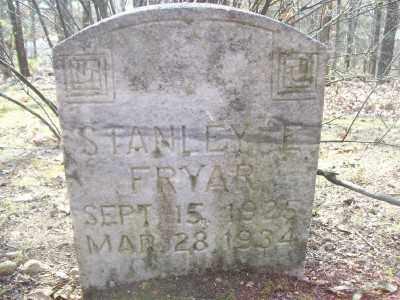 FRYAR, STANLEY E. - Cross County, Arkansas | STANLEY E. FRYAR - Arkansas Gravestone Photos