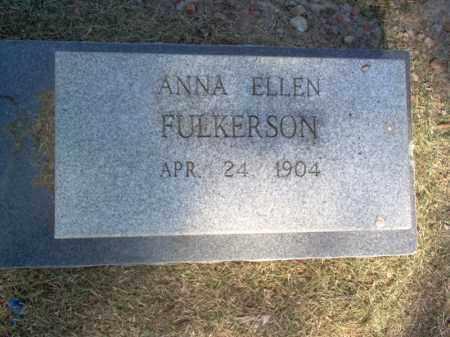 FULKERSON, ANNA ELLEN - Cross County, Arkansas | ANNA ELLEN FULKERSON - Arkansas Gravestone Photos