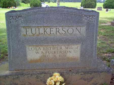FULKERSON, LOLA ESTHER - Cross County, Arkansas | LOLA ESTHER FULKERSON - Arkansas Gravestone Photos