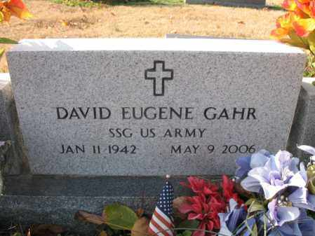 GAHR (VETERAN), DAVID EUGENE - Cross County, Arkansas | DAVID EUGENE GAHR (VETERAN) - Arkansas Gravestone Photos