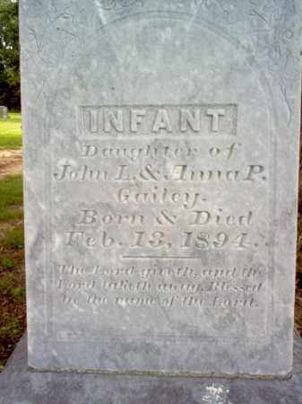GAILEY, INFANT DAUGHTER - Cross County, Arkansas | INFANT DAUGHTER GAILEY - Arkansas Gravestone Photos