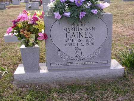 GAINES, MARTHA ANN - Cross County, Arkansas | MARTHA ANN GAINES - Arkansas Gravestone Photos