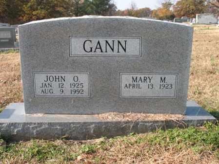 GANN, JOHN O - Cross County, Arkansas | JOHN O GANN - Arkansas Gravestone Photos