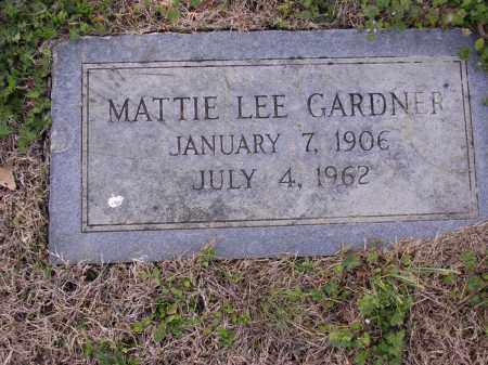 GARDNER, MATTIE LEE - Cross County, Arkansas | MATTIE LEE GARDNER - Arkansas Gravestone Photos