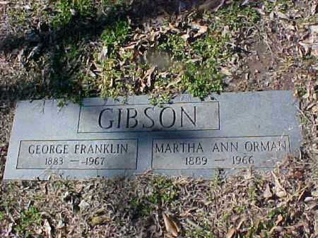 GIBSON, GEORGE FRANKLIN - Cross County, Arkansas | GEORGE FRANKLIN GIBSON - Arkansas Gravestone Photos